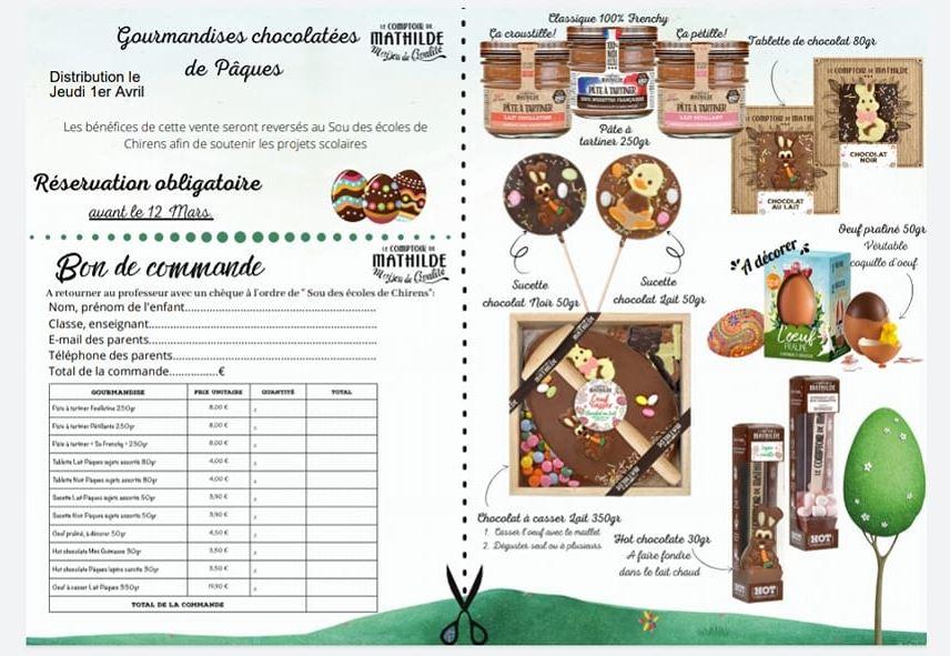 Flyers Chocolats de Pâques
