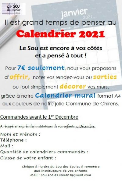 Flyers Calendriers